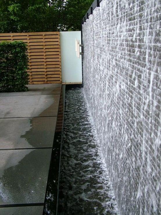 cascada para jardin muro divisorio