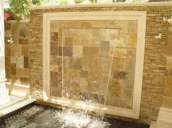 Cascadas para jard n la belleza de la naturaleza en tu hogar for Cascada artificial en pared