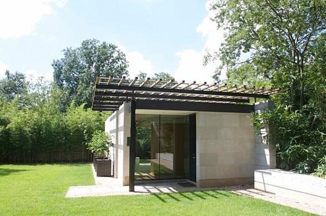 caseta de jardín moderna contemporánea