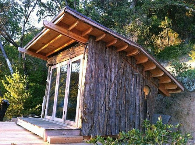 casetas de jardín madera sin tratar bosque