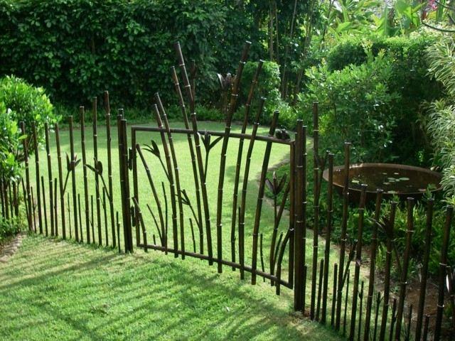 cerca original valla jardin cañas