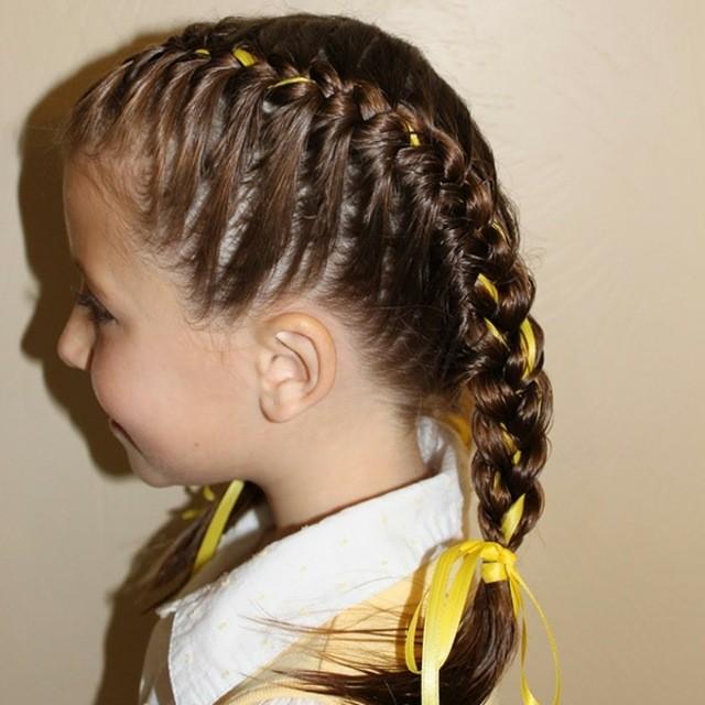 cintas recogido trenza peinados fiestas colegio