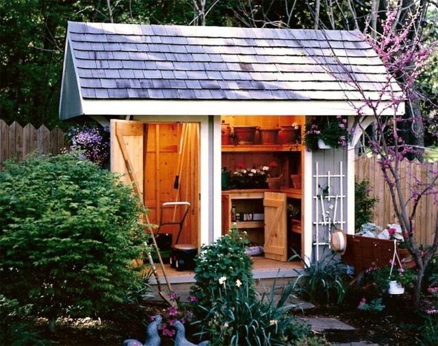 Casetas de jard n y cobertizos con mucho encanto - Cobertizos para jardin ...