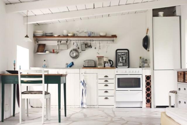 cocina amplia retro idea interesante bonita muebles