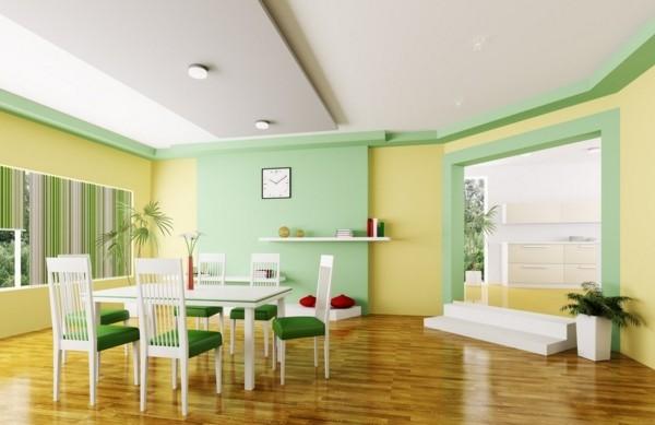 Comedores modernos para las cenas con mucha clase for Colores de pintura para sala comedor