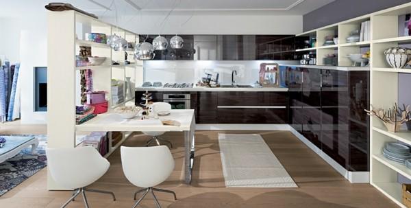 cocina espaciosa moderna colores varios