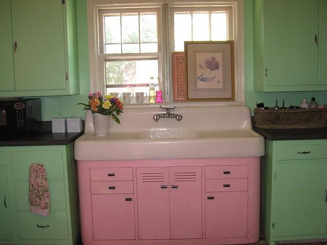 cocina estilo retro colores combinados
