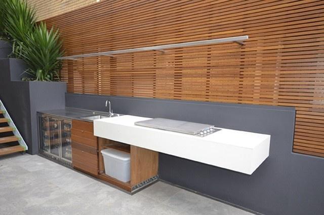 cocina exterior moderna estilo minimalista