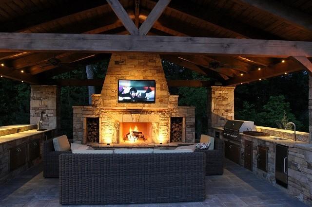 Barbacoas de obra y cocinas exteriores for Texas outdoor kitchen ideas