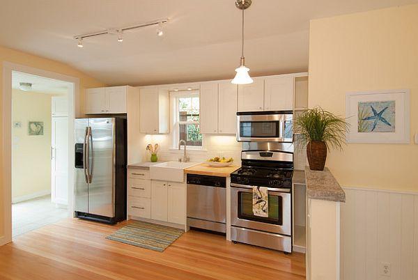 cocinas modernas lineas limpias colore blanco luminoso