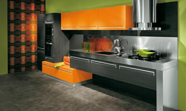 Decoraci n de cocinas lo ltimo en tendencias - Cocinas color naranja ...