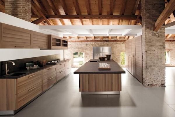 cocina rústica estilo minimalista piedra