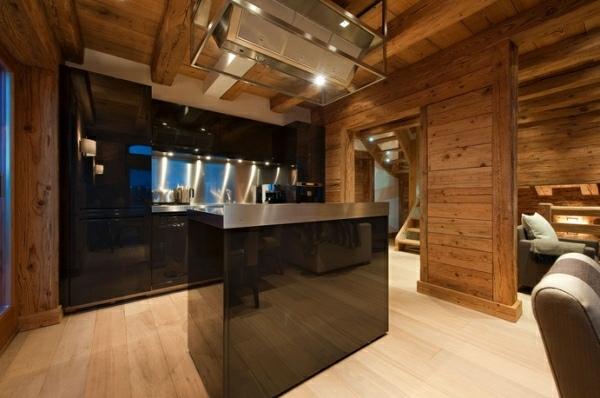 moderna contraste estilo rustico pared madera
