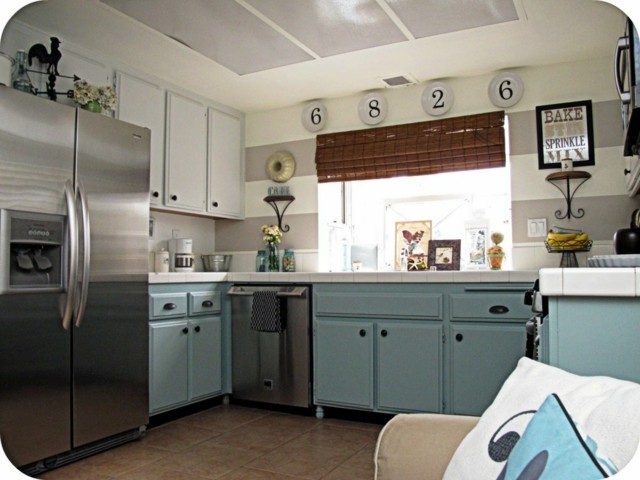 cocina vintage ideas estilo muebles moderna azul claro
