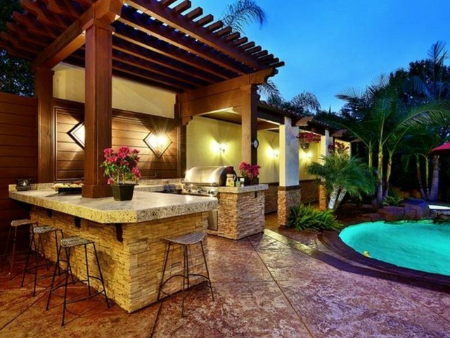Cocinas modernas al aire libre for Color de pintura al aire libre casa moderna