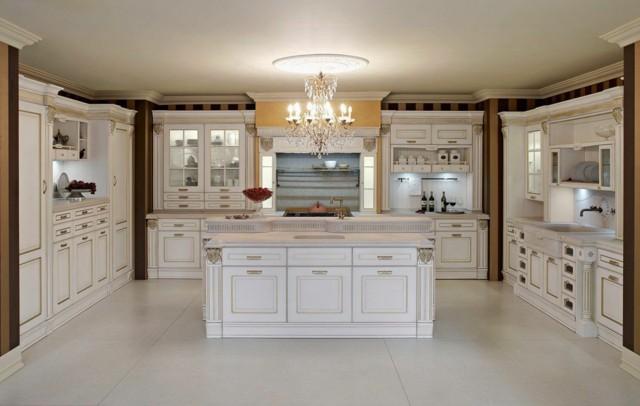cocinas clasicas amplia blanco preciosa modrna idea