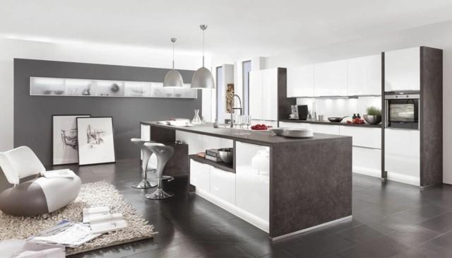 Cocinas con islas de dise o moderno for Cocinas amplias con isla