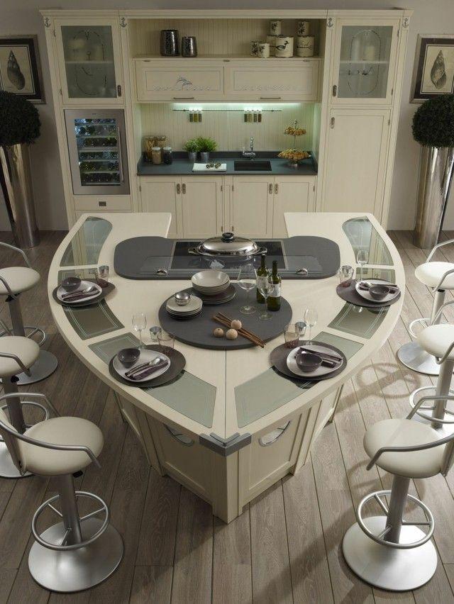 Cocinas con islas de dise o moderno for Cocinas alargadas con isla