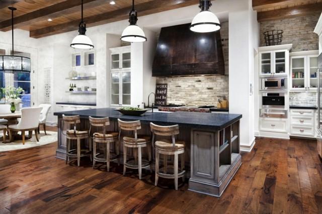 Cocinas con islas de diseño moderno
