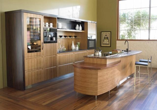 cocinas bonita exquisitas madera idea interesante