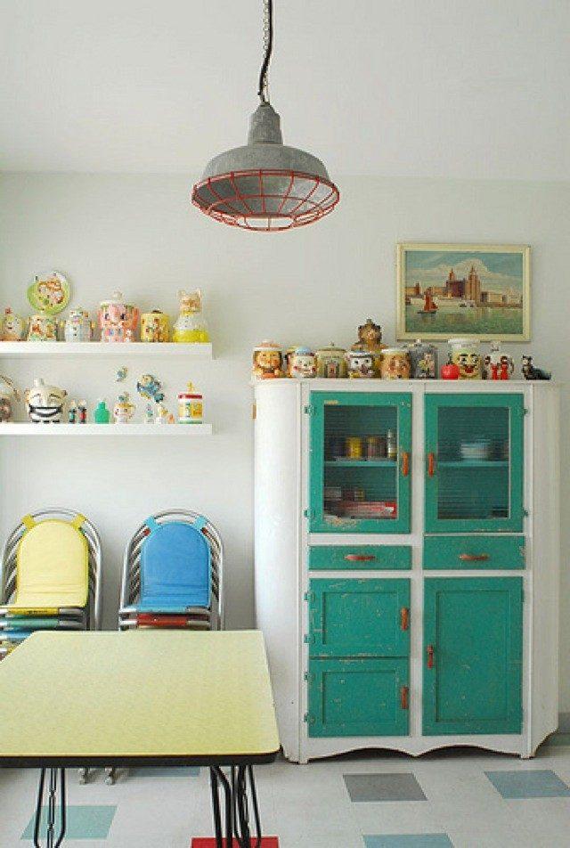 Cocinas vintage para las personas modernas - Cocinas retro vintage ...