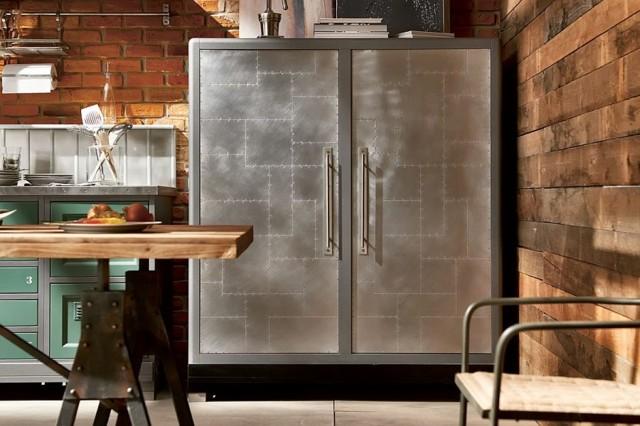 cocinas vintage frigorífico metal acero