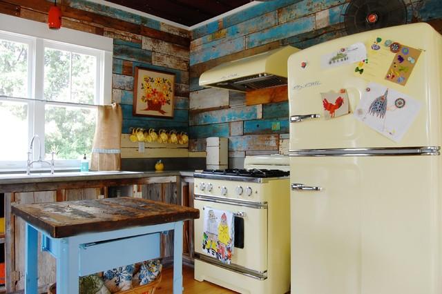 cocinas vintage retro colores vivos