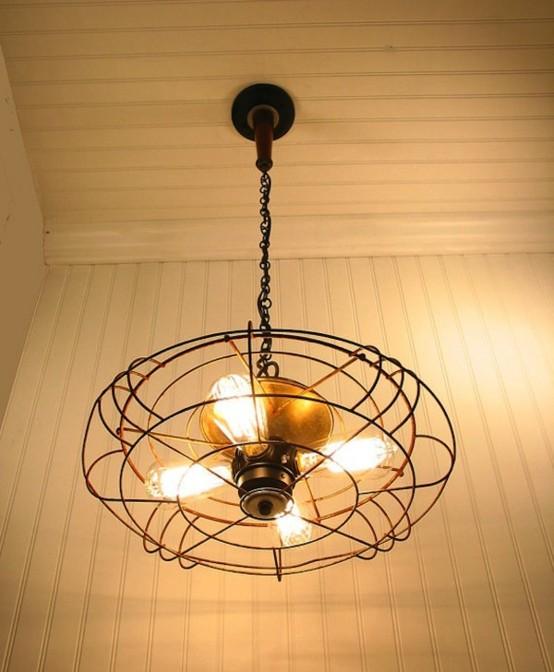 colgante iluminacion lampara industrial