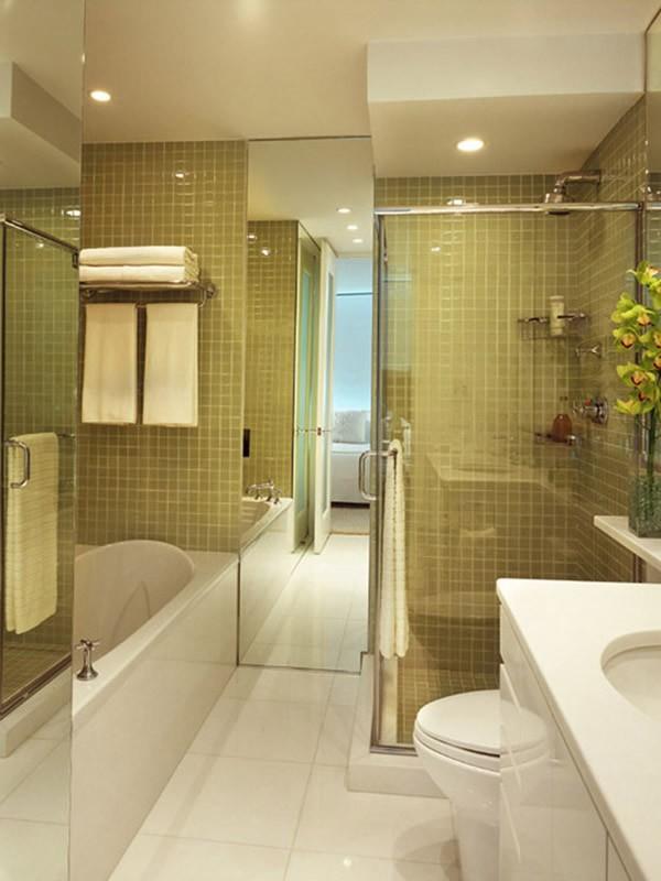 color oro blanco combinacion moderno baño