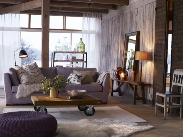 color purpura muebles mesa ruedas diseño madera