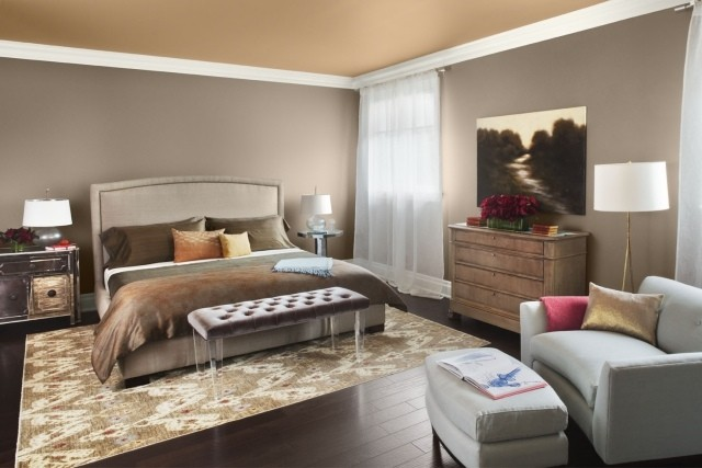 colores para habitaciones marron lampara muebles
