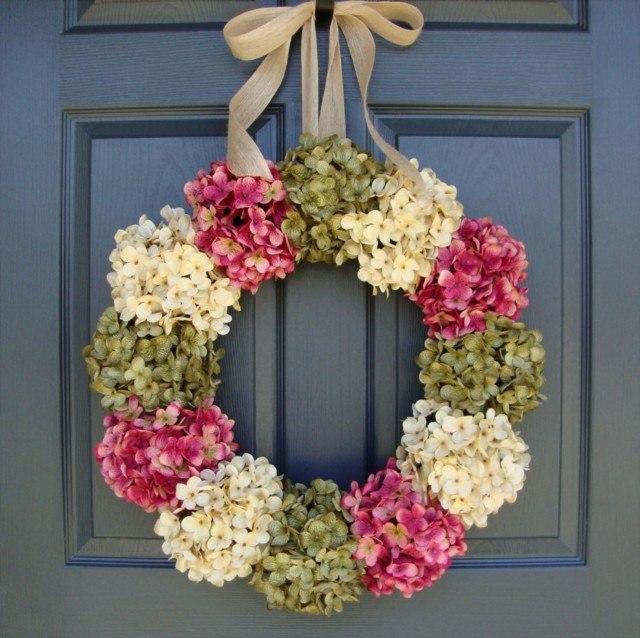 combina color flores puerta decoracion modernos