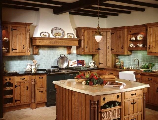 combinacion estilo rustico vintage madera muebles armarios isla amplia