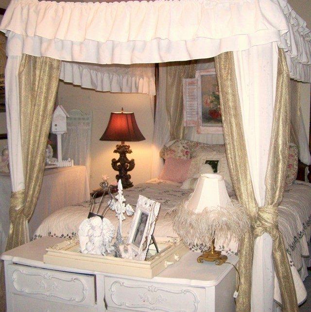 shabby chic combinacion estilos vintage cama grande blanco