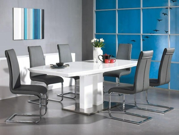 Muebles de comedor en el sal n para las cenas especiales for Sillas grises para comedor
