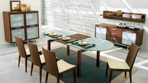 Muebles de comedor en el sal n para las cenas especiales for Salon comedor minimalista