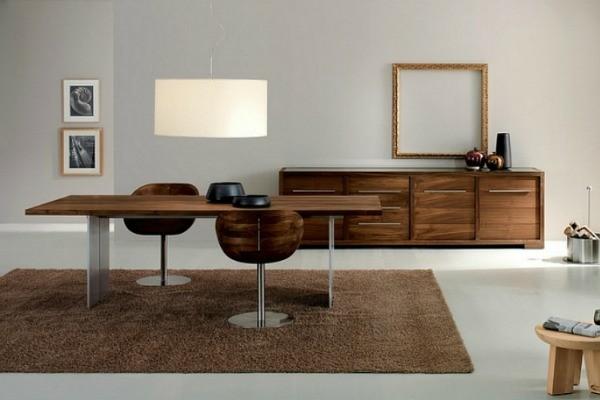 comedor moderno madera salón alformbra