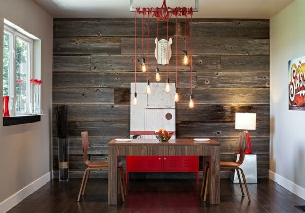 comedor madera muebles pared