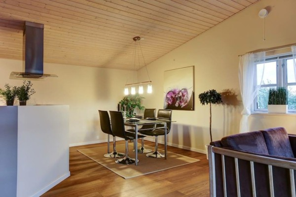 comedor moderno salon minimalista morado