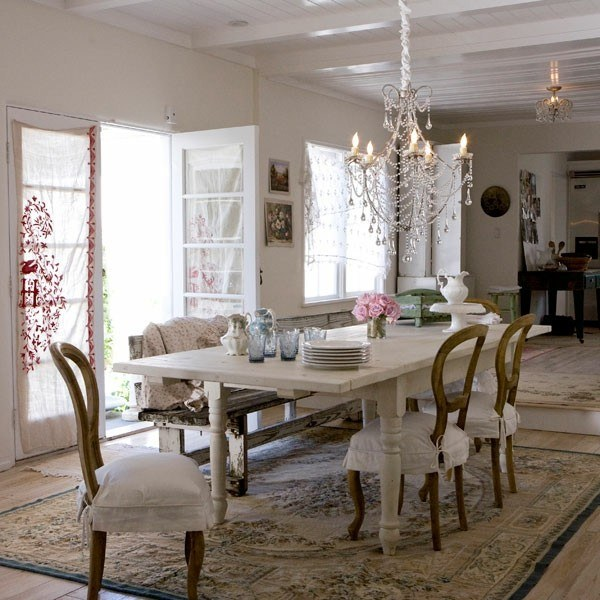 comedor muebles lampara shabby chic