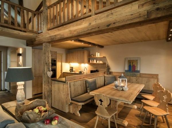 Muebles de comedor en el sal n para las cenas especiales - Muebles de comedor rusticos modernos ...