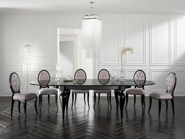 comedor salón clásico blanco