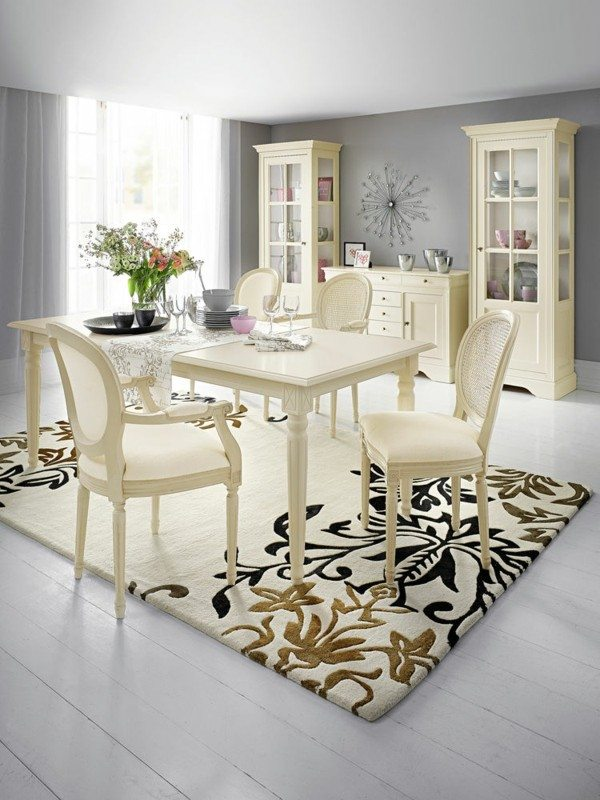 comedor super chic blanco roto