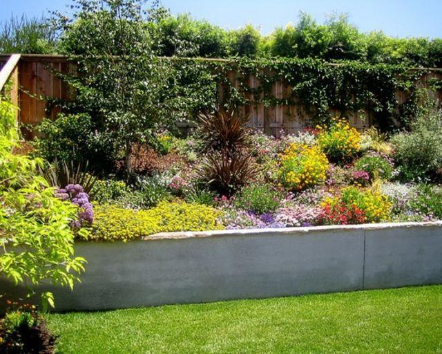 Dise o de jardines ideas para muros de ensue o - Muro jardin ...