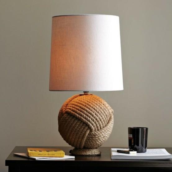 contemporanea mesa lampara salon