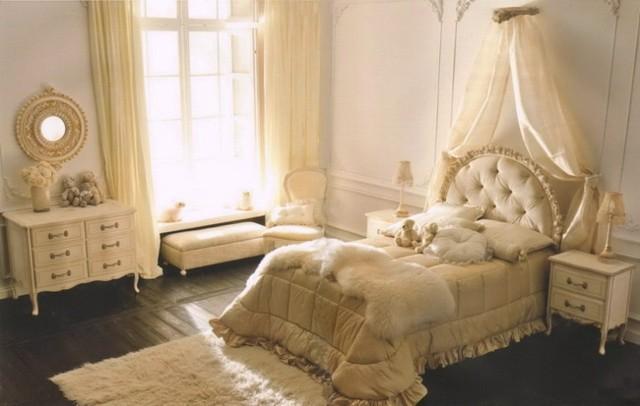 dormitorio moderno chicas colores crema