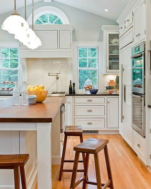 Vintage estilo retro cl sico en la cocina - Cocinas con azulejos blancos ...