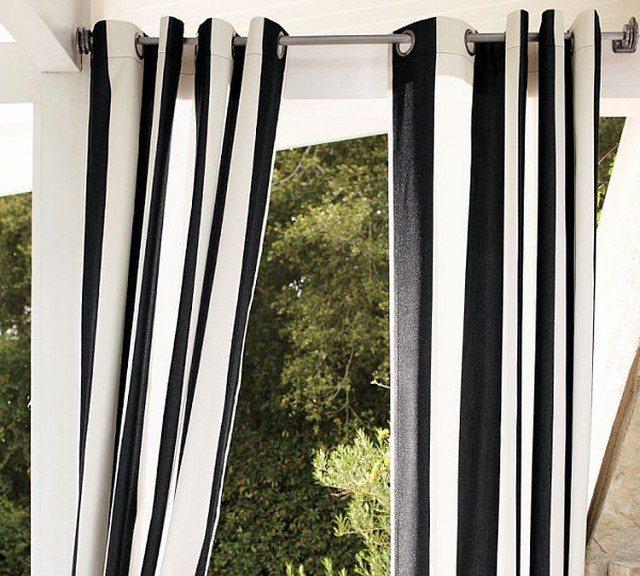 cortinas jardin rayas poliester protegen sol rayas