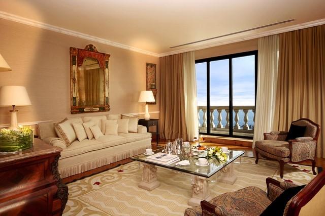 cortinas para salón dos telas distintas color crema