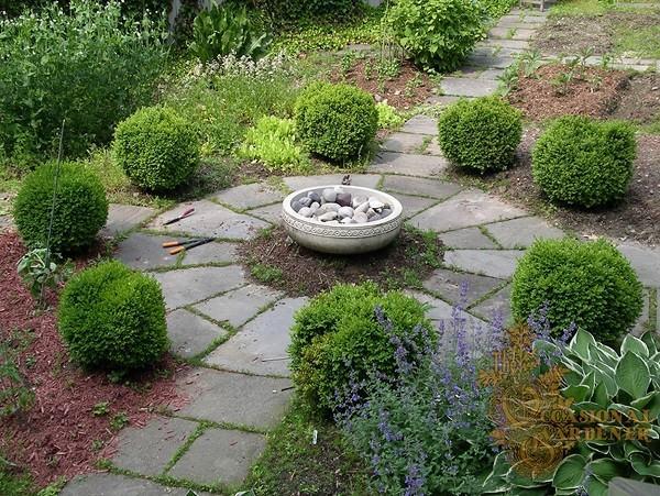 Baldosas y adoquines para bonitos caminos de jard n for Simple vegetable garden designs